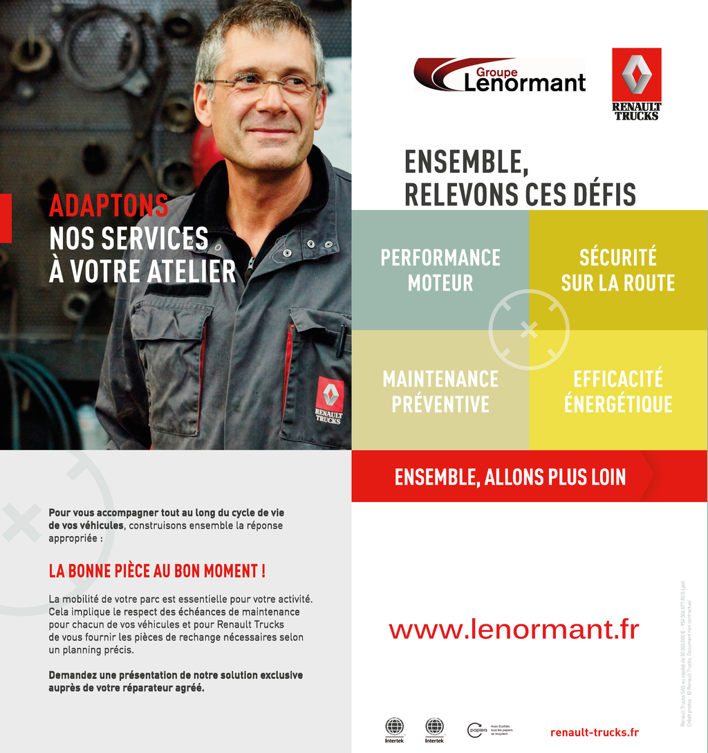 DEFI RENAULT TRUCKS performance moteur